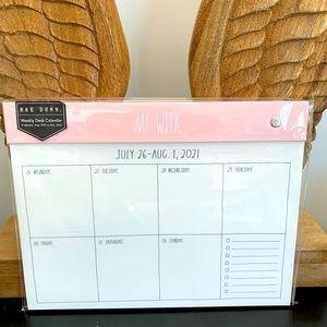 17month MY WEEK Rae dunn weekly calendar